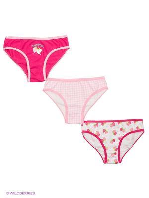 Трусы Cascatto. Цвет: малиновый, белый, бледно-розовый