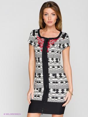 Платье BOVONA. Цвет: кремовый, черный