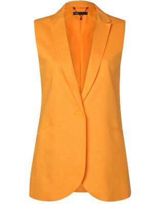 Жилет Oodji. Цвет: оранжевый