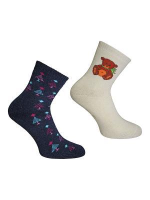 Носки 2 пары Master Socks. Цвет: антрацитовый, бежевый