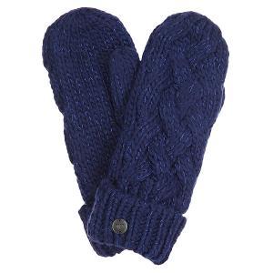 Варежки женские  Love&snowmitten Blue Print Roxy. Цвет: синий