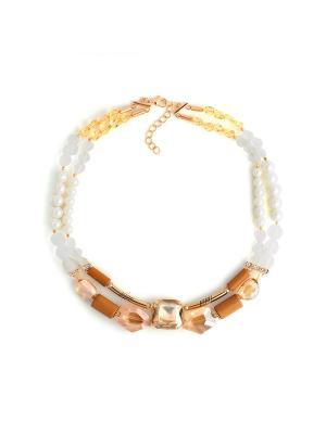 Электра Роман с камнем. Цвет: белый, золотистый, коричневый
