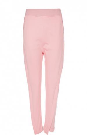 Хлопковые брюки с завышенной талией Acne Studios. Цвет: розовый