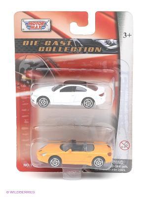 Игровой набор из двух машинок BMW M3 Coupe и Porsche Boxster Motormax. Цвет: белый, желтый