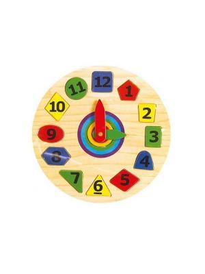 Развивающая игрушка Часы Винтик и Шпунтик. Цвет: красный,желтый,зеленый,голубой