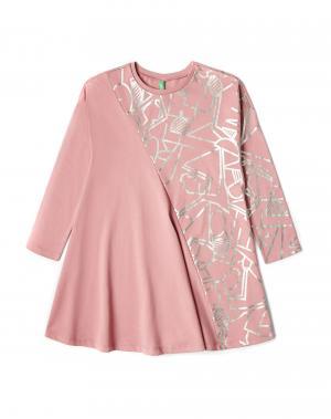 Платье Benetton. Цвет: розовый