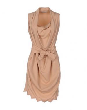 Короткое платье MARTA MARTINO. Цвет: песочный