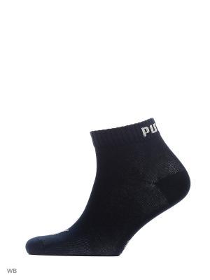 Носки PUMA UNISEX QUARTER PLAIN 3P. Цвет: темно-синий, светло-серый, серо-голубой