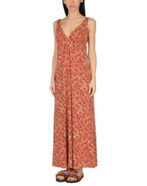 Пляжное платье SIYU. Цвет: кирпично-красный