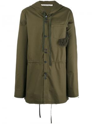Пальто Jim Damir Doma. Цвет: зелёный