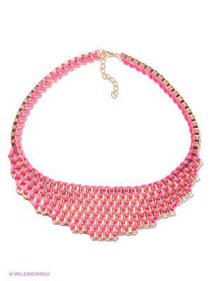 Колье Lovely Jewelry. Цвет: розовый, золотистый
