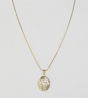 Rock 'N' Rose Позолоченное ожерелье с подвеской-медальоном N. Цвет: золотой