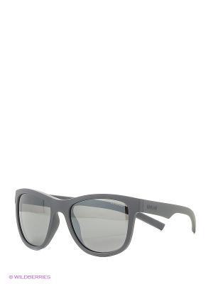 Солнцезащитные очки Polaroid. Цвет: серый, черный