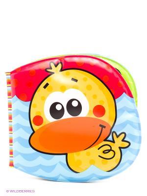 Playgro Игрушка для игр в ванной  Книжка-пищалка. Цвет: красный, оранжевый, синий, зеленый
