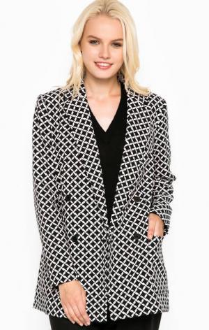 Пиджак на пуговицах удлиненного силуэта MICHAEL Kors. Цвет: черный