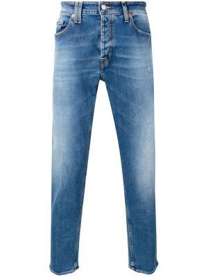 Зауженные джинсы Cycle. Цвет: синий