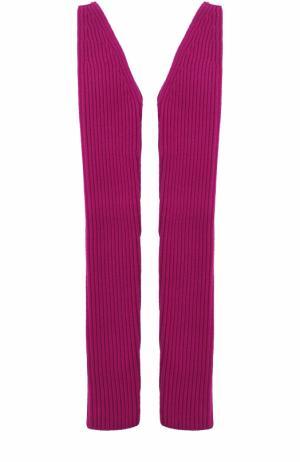 Вязаные рукава из смеси шерсти и кашемира CALVIN KLEIN 205W39NYC. Цвет: фиолетовый