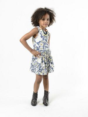 Платье Imoga. Цвет: молочный, желтый, темно-синий