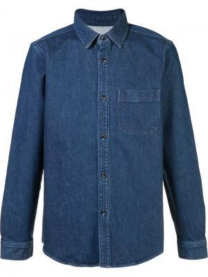 Джинсовая рубашка A.P.C.. Цвет: синий