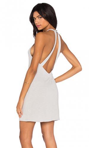 Мини платье Lanston. Цвет: серый