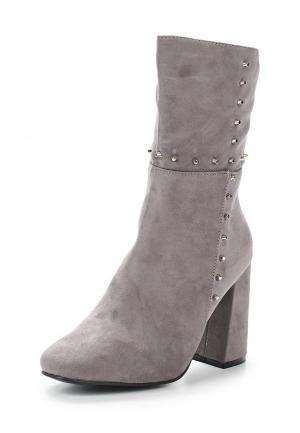 Полусапоги WS Shoes. Цвет: серый