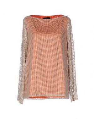 Блузка JO NO FUI. Цвет: оранжевый