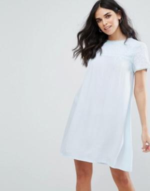 Little White Lies Свободное платье Fleur. Цвет: синий
