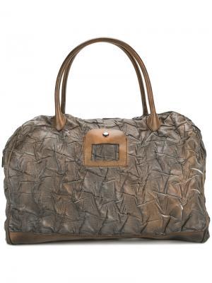 Фактурная дорожная сумка-тоут Numero 10. Цвет: коричневый