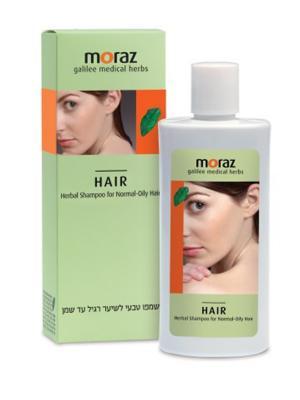 Травяной шампунь для нормальных и жирных волос Moraz. Цвет: белый