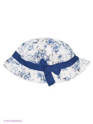 Панама текстильная для девочек PlayToday. Цвет: белый, голубой