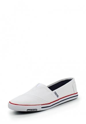 Слипоны Skechers. Цвет: белый