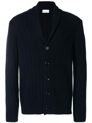 Shawl collar cardigan Dondup. Цвет: синий