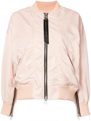 Классическая куртка-бомбер Daniel Patrick. Цвет: розовый и фиолетовый