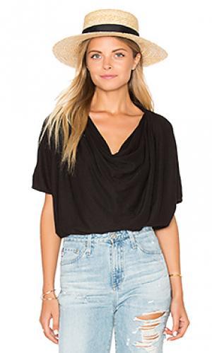 Драпированная футболка amelia LA Made. Цвет: черный