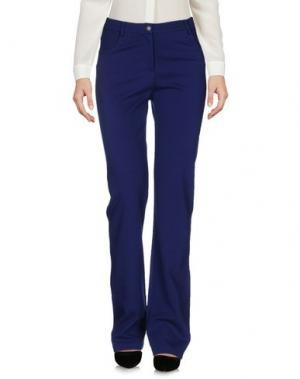 Повседневные брюки LA FABBRICA DEL LINO. Цвет: синий