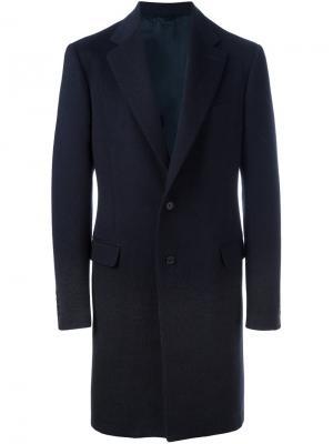 Классическое пальто Raf Simons. Цвет: синий