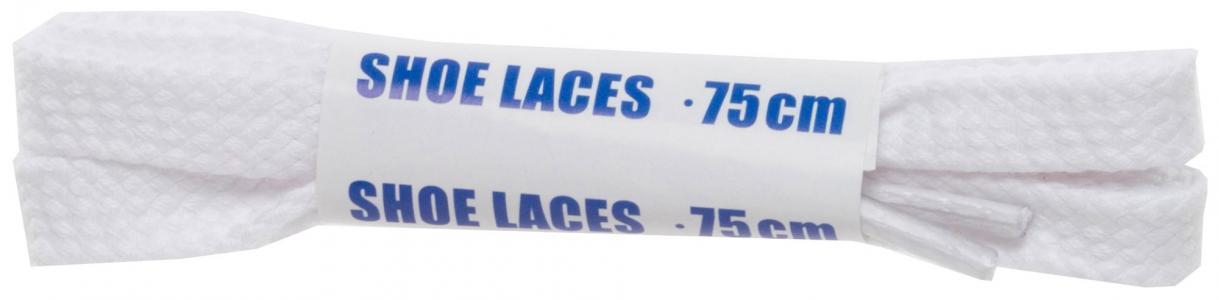 Шнурки белые плоские  Sport, 75 см Woly