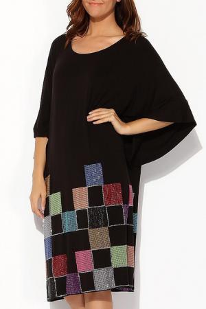 Платье Moda di Lorenza. Цвет: черный