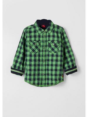 Рубашка S.OLIVER. Цвет: зеленый