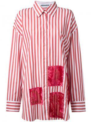 Свободная рубашка в полоску Mikio Sakabe. Цвет: красный