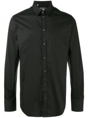 Рубашка с маленьким воротником Dolce & Gabbana. Цвет: чёрный