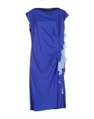 Платье до колена EMANUEL UNGARO. Цвет: ярко-синий