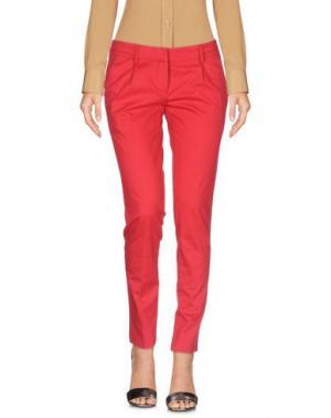 Повседневные брюки GOLD CASE. Цвет: красный