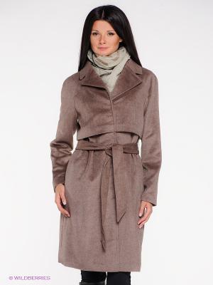Пальто La Reine Blanche. Цвет: темно-бежевый