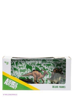 Набор фигурок Динозавры MOJO. Цвет: темно-зеленый, бордовый, черный