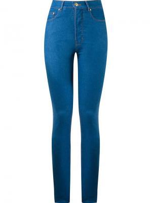 High waist skinny jeans Amapô. Цвет: синий