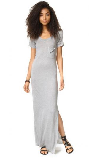 Платье-футболка Haute Hippie. Цвет: серый