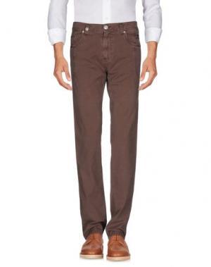 Повседневные брюки NICWAVE. Цвет: светло-коричневый