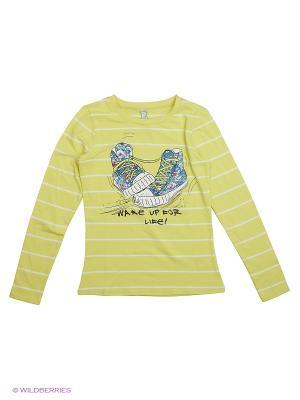 Фуфайка трикотажная для девочек (футболка с длинным рукавом) S`Cool. Цвет: желтый