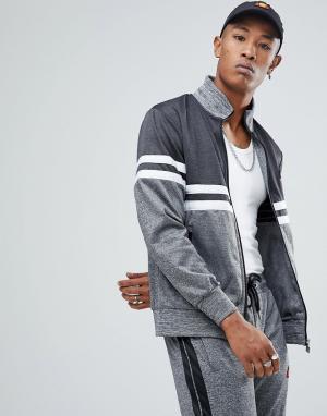 Ellesse Спортивная куртка с контрастной вставкой. Цвет: серый